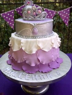 Princess cake inspired by Sofia the First
