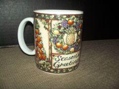 Lang & Wise Holiday Hospitality Coffee Mug 1998 Susan Wagner Christmas