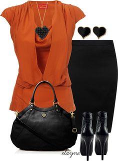 Negro y ... naranja