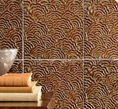 http://www.annsacks.com new ceramic tile - Chinois, Robert Kuo·s first foray into ceramic tile, is grounded in traditional motifs and the wood-fired pottery glazes of the Song and Tang Dynasties.