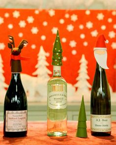 Holiday Wine Toppers