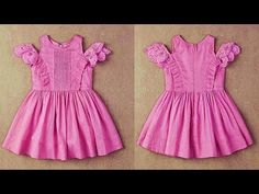 Diy Designer Baby Frock Cutting & Stitching Full Tutorial - YouTube Party Wear Frocks, Kids Party Wear Dresses, Kids Outfits Girls, Little Girl Dresses, Baby Frock Pattern, Frock Patterns, Baby Girl Dress Patterns, Sewing Patterns, Frock Design For Stitching
