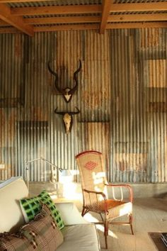 Rustic Galvanized Interior Wall Paneling