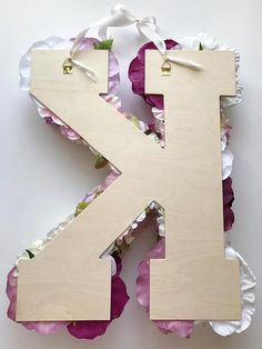 Custom floral letter 18 24'' Nursery decor