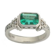 Emrald Art Deco Ring