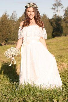 Vintage Wedding Dress CHARLOTTE 1970s Wedding Dress #wedding #dress www.loveitsomuch.com