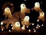 Diy Halloween Ghost Lights | Shelterness