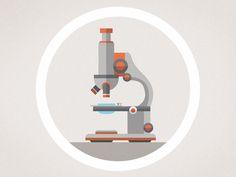 Microscope flat design illustration