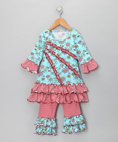 Take a look at this Blue & Red Janea's World Eliza Dress & Leggings - Toddler & Girls by Signature Collection by 4Ever Princess on #zulily today!