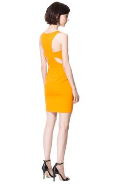 Image 1 of DRESS WITH CUT-OUT DETAIL AT THE  BACK from Zara