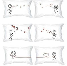His & Hers pillow case