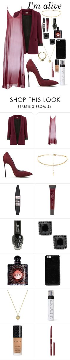 """""""I'm alive"""" by docmartenslovah ❤ liked on Polyvore featuring Attic and Barn, Casadei, Maybelline, Lane Bryant, Yves Saint Laurent, Maison Margiela, Michael Kors, St. Tropez, Gucci and Stila"""