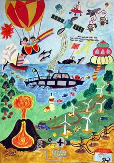 Kids Art Class, Art Lessons For Kids, Art Lessons Elementary, Art For Kids, Painting For Kids, Drawing For Kids, Mosaics For Kids, Peace Drawing, Oil Pastel Drawings