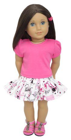 Silly Monkey - Dark Pink Top and White Paris Skirt, $15.99 (http://www.silly-monkey.com/products/dark-pink-top-and-white-paris-skirt.html)