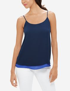 2 camis in 1! Flip this cami inside out to decide on today's color of choice.