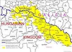 Pre World War I Rusyn Settlement Map