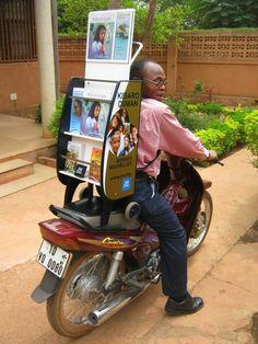 Koszyk (wózek) Świadkami na Wybrzeżu Kości Słoniowej.      Cart (Trolley) Witnessing in the Ivory Coast.     (via librarian-wnm)