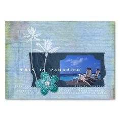 Paradise Travel Chubby Business Cards