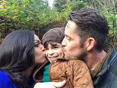 """Lana Parrilla: """"A family affair in Storybrooke! #OnceAUponATime #EvilRegals Sean Maguire & Cutie Raphael Alejandro #OutlawQueen"""" <3 <3 <3"""
