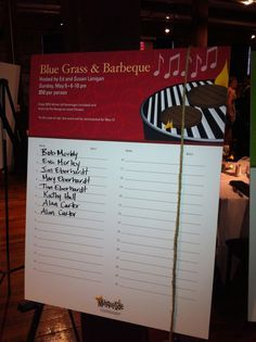 Sign up parties are great for many auctions. They do especially well with schools,