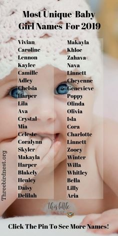 The Prettiest , Most Unique Baby Girl Names For 2019 Baby girl names . The Prettiest , Most Unique Baby Girl Names For 2019 Baby girl names Baby Girl Names Unique, Cute Baby Names, Boy Names, Unusual Baby Names, Book Of Baby Names, List Of Baby Names, Baby Names For Girls, Bany Girl Names, Amazing Girl Names