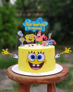 Marshmallows Decorados, Bolo Mickey Baby, Cake For Boyfriend, Spongebob Birthday Party, Candy Gift Baskets, Character Cakes, Party Decoration, Birthday Cake Decorating, Just Cakes