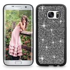 Amazon.com: S7 Edge Case, Galaxy S7 Edge case, Cellularvilla [Slim Fit] Hybrid Luxury Bling Jewel Rock Crystal Rhinestone Diamond Case [Shockproof] Protective Shell Cover for Samsung Galaxy S7 Edge (Black Gold): Cell Phones & Accessories