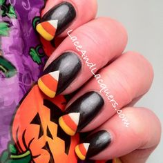 Lace and Lacquers: Halloween Themed Nail Art