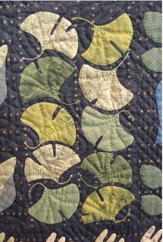 gingko leaf quilt. I'm sure this is quite beyond my abilities, but pretty