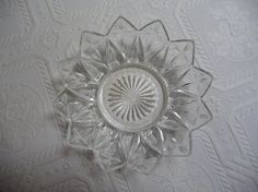 Vintage Glass Dish Shallow Dish