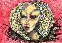 Oil Pastel Paintings, Original Paintings, Original Art, Abstract Portrait, Abstract Art, Abstract Expressionism, Oil Pastel Colours, Woman Painting, Art Oil
