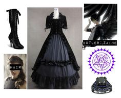 """""""Black Butler OC"""" by madnessismymiddlename ❤ liked on Polyvore featuring beauty, Retrò and Sebastian Professional"""