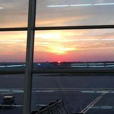 Sunset from Indianapolis International Airport!