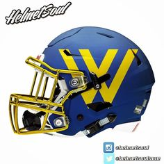 Another new look for the #chromemydome #contest #winner @ygnaciovalley_football #warriors #football #swag #chrome #riddell #schutt @uafootball @usnikefootball #helmet #design #concept #ygnaciovalleyhighschool #cally #warriorfootball #w #gold #chrome #matteblue new designs added! #helmet #collegefootball #design #nfl #football #footballhelmet