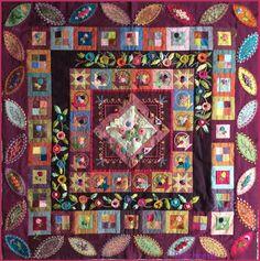 crazy quilting by hand Crazy Quilt Blocks, Quilt Block Patterns, Pattern Blocks, Top Photos, La Petite Boutique, Bouquet, Hand Quilting, Crazy Quilting, Ribbon Work