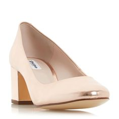 ANNALENA - Block Heel Round Toe Court Shoe