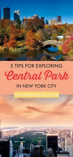 Things to do in New York City – Travel tips and ideas - With so much to see and do in Central Park, it can be hard to make the most of your time in the park! Here are five tips for exploring Central Park. #NYC #NewYork #BigApple
