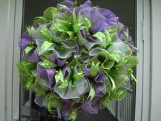 Deco Mesh Ruffle Wreath