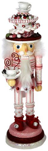 Hollywood Nutcrackers Kurt Adler 15-Inch Hollywood Pink Candy Cake Hat Nutcracker