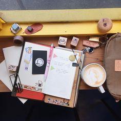 """84 Likes, 1 Comments - •• (@ngohi) on Instagram: """"Week 37 * * * #midori #midoritravelersnotebook #travelersnotebook #notebook #traveljournal…"""""""