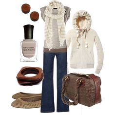 Comfy & casual, created by htotheb. Would also look cute with some leopard flats. Fall Outfits, Dress Outfits, Cute Outfits, Fashion Outfits, Womens Fashion, Fashion Trends, Fashion Ideas, Travel Outfits, Fashionista Trends