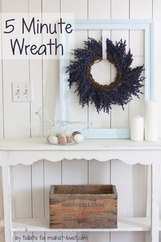 DIY 5 Minute Wreath....in a great deep purple color! --- Make It and Love It