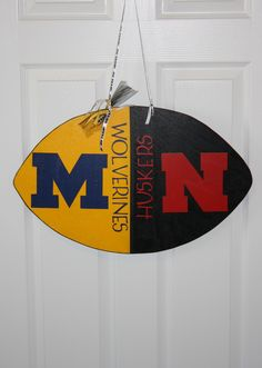 RIVAL sign...If your house cheers for 2 different teams here is a way to cheer for both!