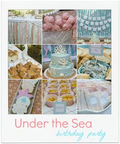 mel mel LOVE THE TABLE DECOR  GARLAND FOR UNDER THE SEA PARTY THEME!