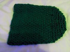 Zielona czapka wzór podwójny ryż