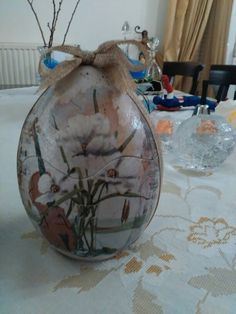 Easter egg with decoupage