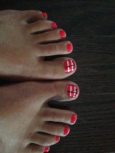 Anchor toe nails #nautical
