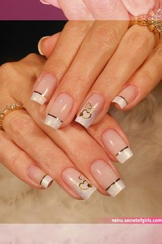 Nail care is very important because : Nails problems may indicate problems with your heart, lungs, kidneys… Here you will find the steps to keep your nails look and feel best. Valentine's Day Nail Designs, French Nail Designs, Cute Nails, Pretty Nails, Shellac Nails Fall, Hello Nails, Clear Glitter Nails, French Acrylic Nails, Summer Toe Nails