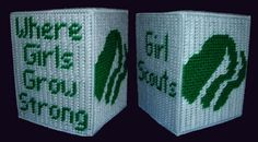 Boutique size Tissue Box Cover GIRL SCOUTS