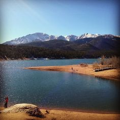 Pikes Peak from the Crystal Reservoir- June 2013